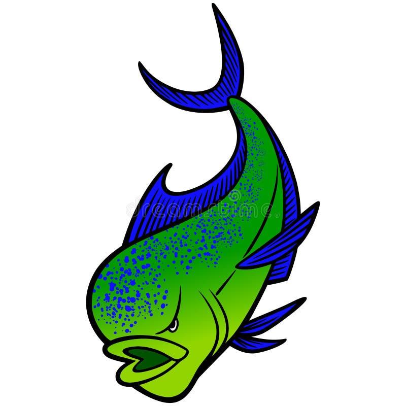 Mahi Mahi Mascot. A illustration of a Mahi Mahi Fish stock illustration