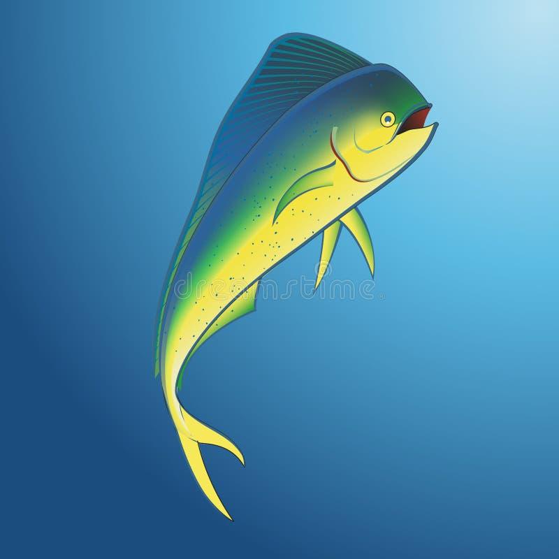 Mahi Mahi Onderwater royalty-vrije illustratie