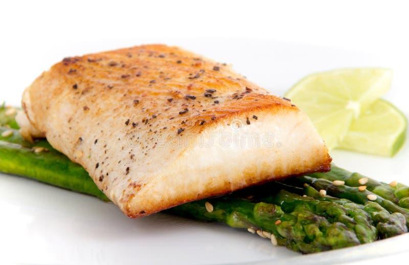 Mahimahi gekookte filet royalty-vrije stock afbeelding