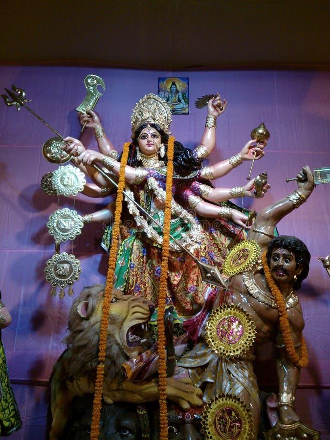 Mahisasur убийства durga Maa стоковые изображения rf