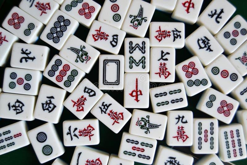 Mahjong瓦片 免版税库存照片