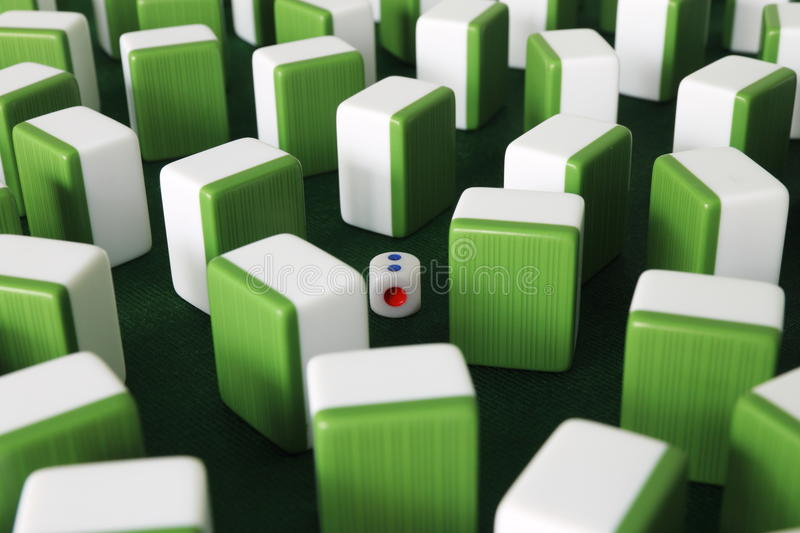 Mahjong. The blocks are mahjong,its a very popular game in china stock images