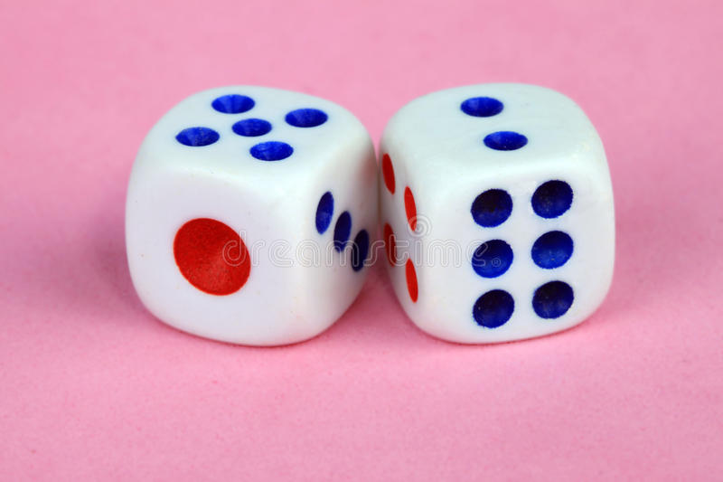 Mahjong dices stock images