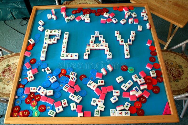 Mahjong do jogo fotografia de stock