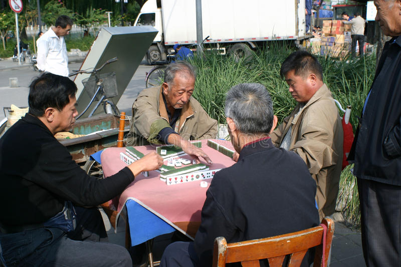 Download Mahjong game editorial photo. Image of asia, park, seniors - 13911681