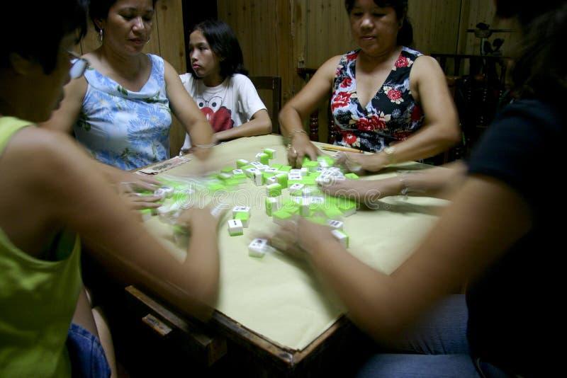 mahjong gracze fotografia stock