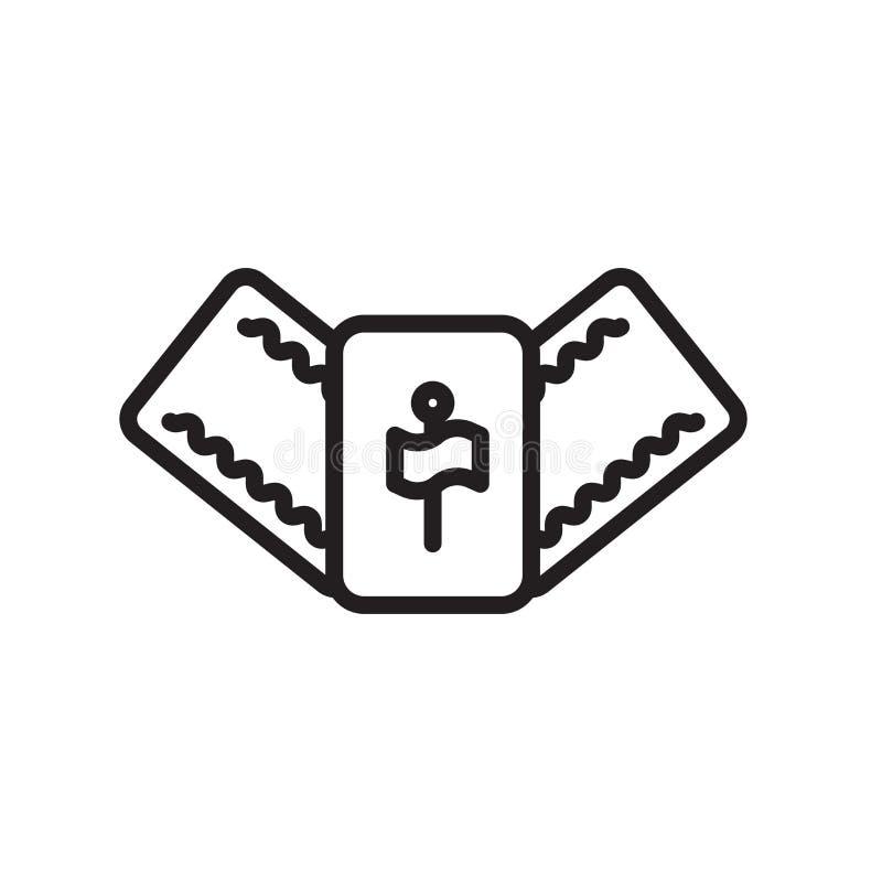 Mahjong ikony wektoru znak i symbol odizolowywający na białym tle ilustracji