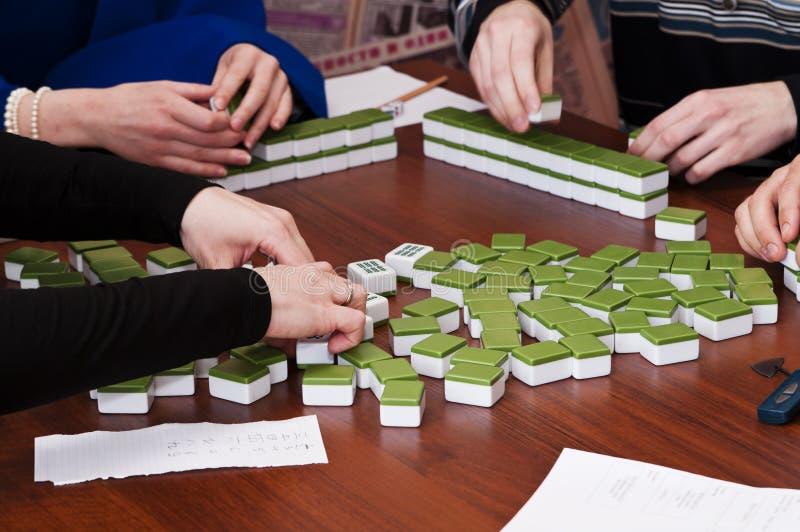 Mahjong japonés fotos de archivo