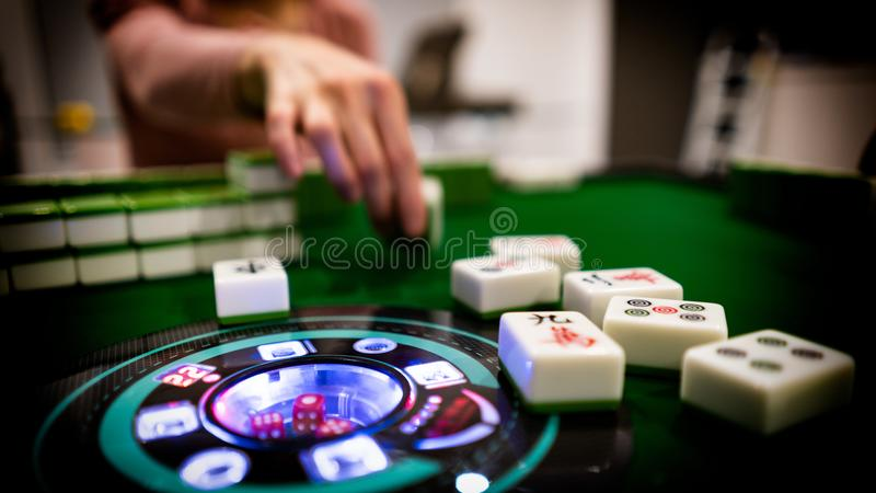 Mahjong Peng! imagens de stock