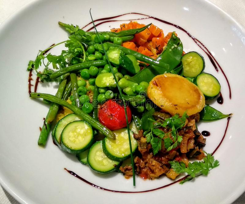 Mahlzeit des strengen Vegetariers stockbild