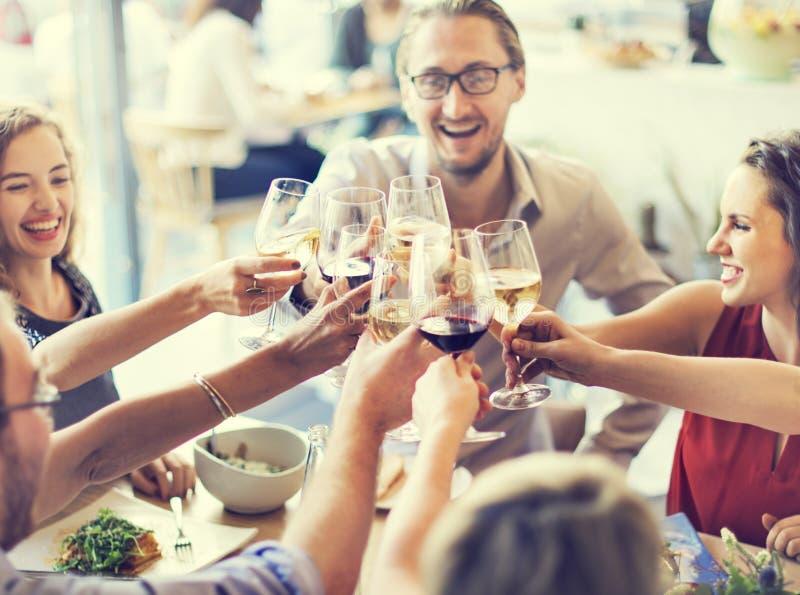 Mahlzeit-Lebensmittel-Partei feiern Café-Restaurant-Ereignis-Konzept stockfotos