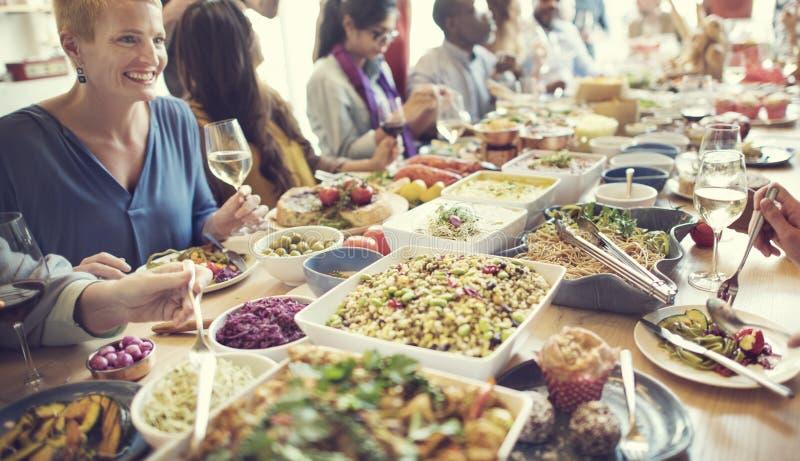 Mahlzeit-Lebensmittel-Partei feiern Café-Restaurant-Ereignis-Konzept lizenzfreie stockfotos