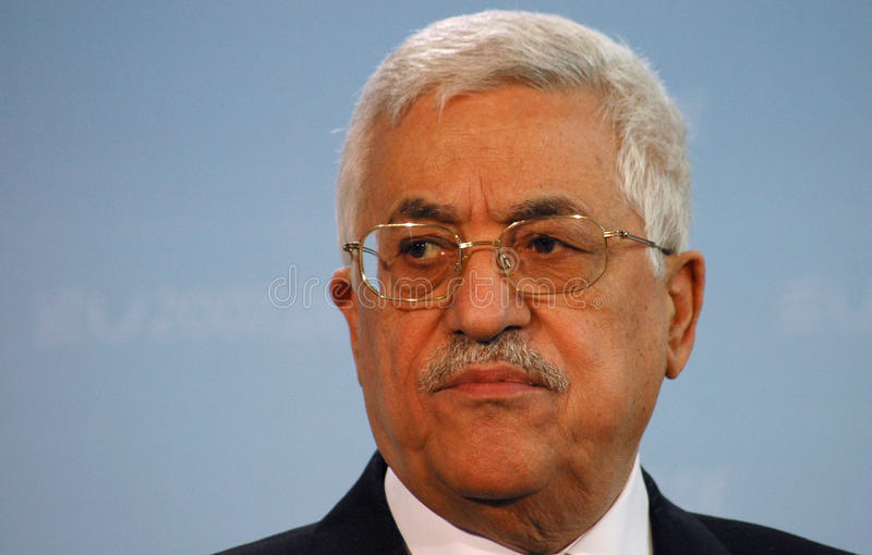 Mahmud Abbas. BERLIN, FEBRUARY 23: Palestinian President Mahmud Abbas looks into the camera at a meeting with the German Chancleor in Berlin on February 23, 2007 royalty free stock photos