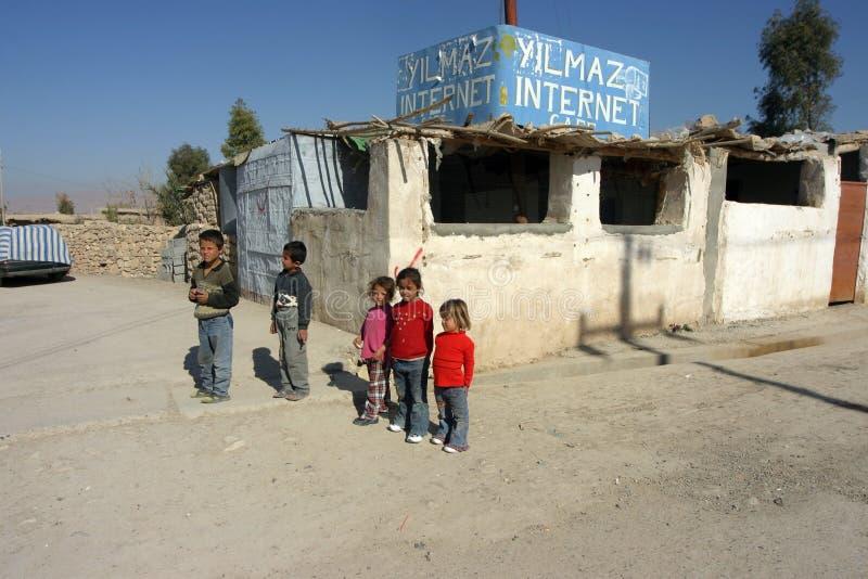 Mahmur flyktingläger royaltyfri fotografi