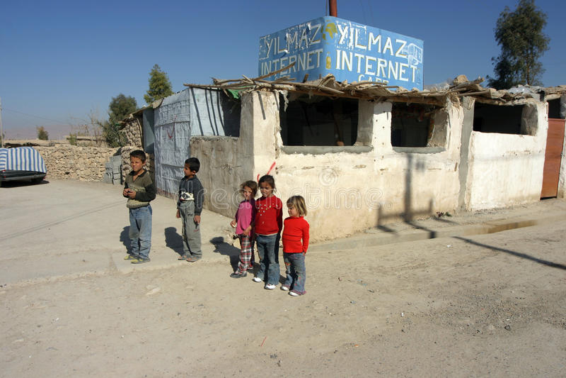 Mahmur Obóz Uchodźców fotografia royalty free