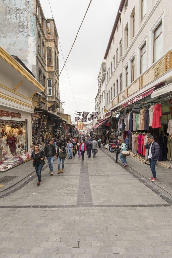Mahmut Pasa bazaar στη Ιστανμπούλ στοκ εικόνα με δικαίωμα ελεύθερης χρήσης