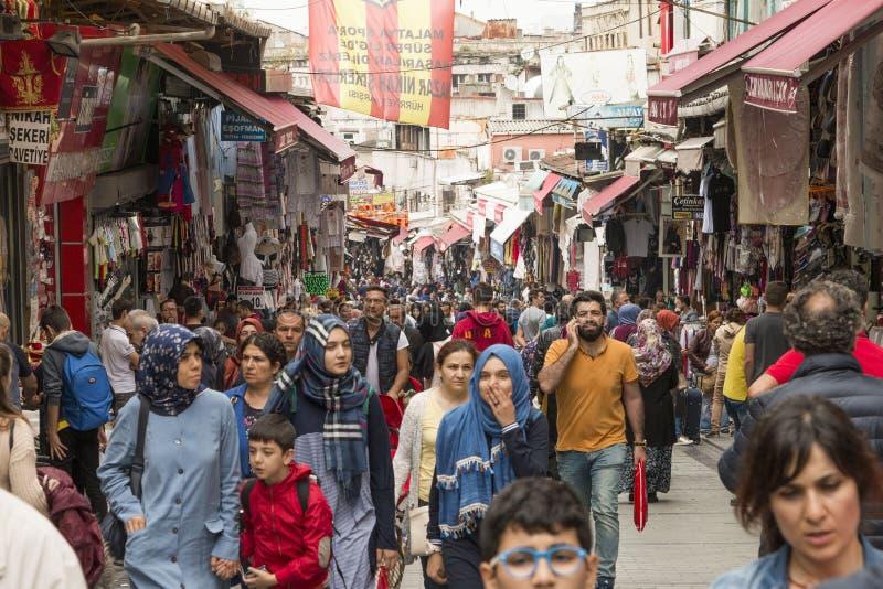 Mahmut Pasa bazaar in Istanbul royalty free stock photos