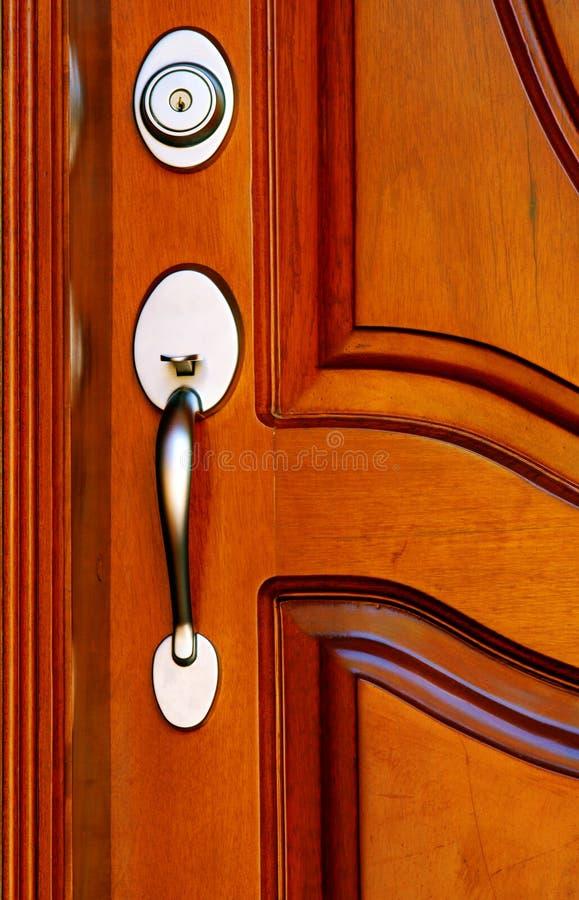 mahoń drzwi zdjęcie stock