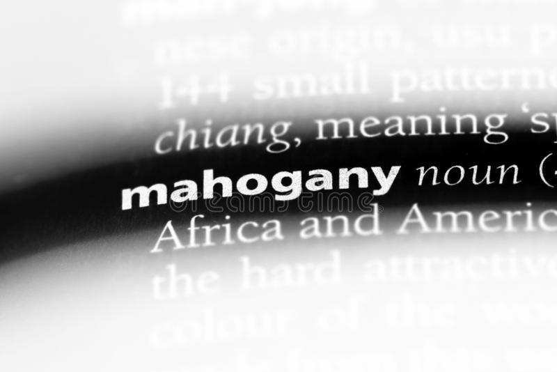 mahogany стоковое фото