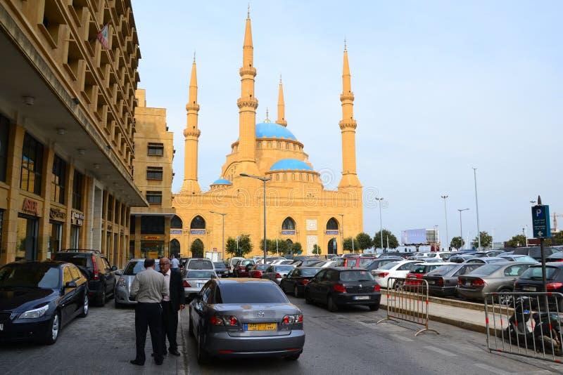 Mahomet Amin meczet w w centrum Bejrut, Liban fotografia royalty free