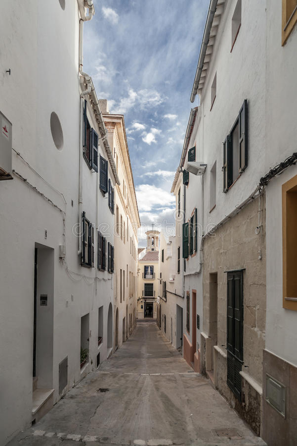 Mahon, de Balearen, Spanje stock foto's