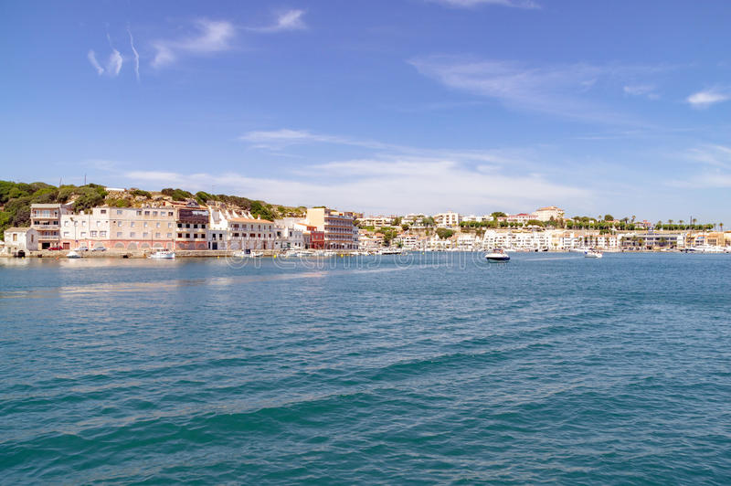 Mahon harbor in Menorca. Mahon/Spain. 21st June 2012. The beautiful Menorcan capital of Mahon in Spain on a warm summer's day. Image captured during an royalty free stock photos
