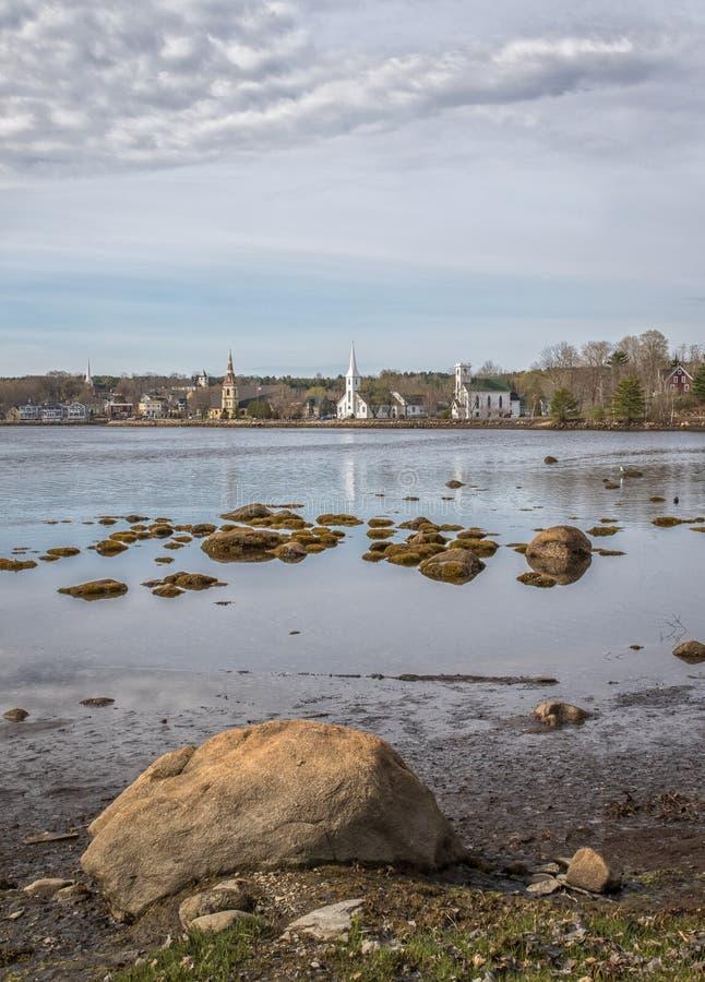 Mahone Bay, Nova Scotia royalty free stock photo