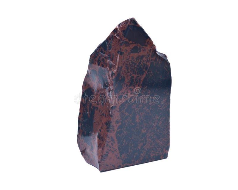 Mahonie obsidian het opgepoetste snijden royalty-vrije stock fotografie