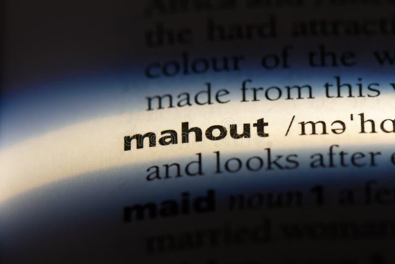 mahout στοκ φωτογραφία με δικαίωμα ελεύθερης χρήσης