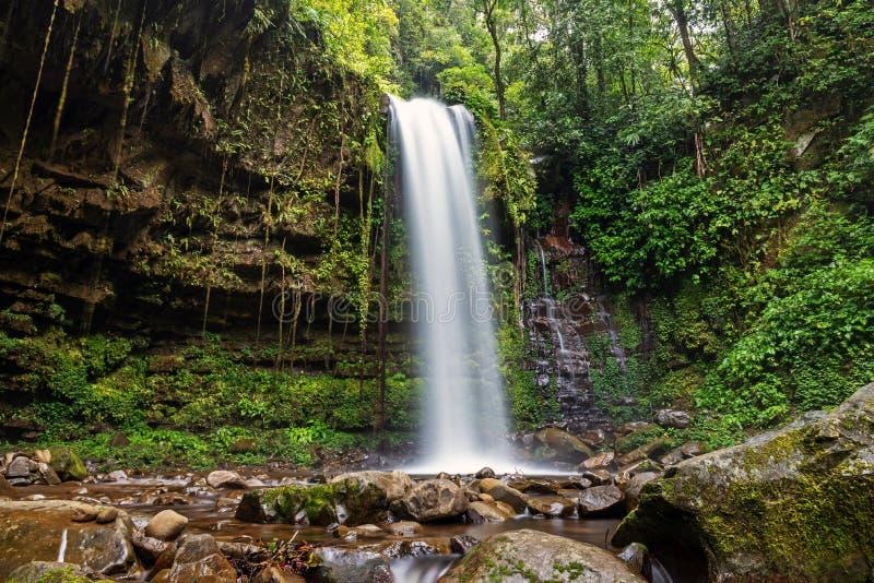 Mahua Waterfall in Crocker Range National Park Tambunan stock image