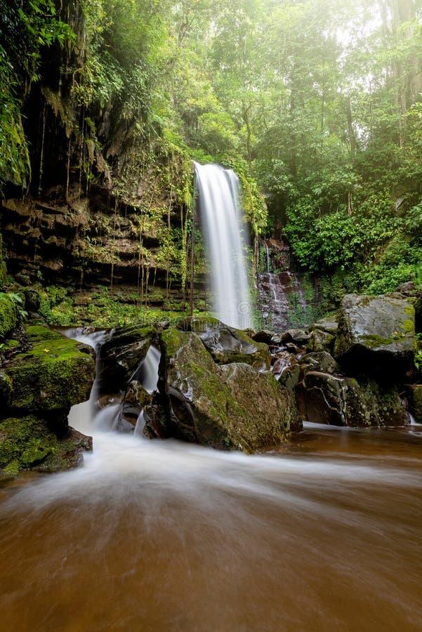 Mahua Waterfall in Crocker Range National Park Tambunan. Sabah Borneo Malaysia royalty free stock photography