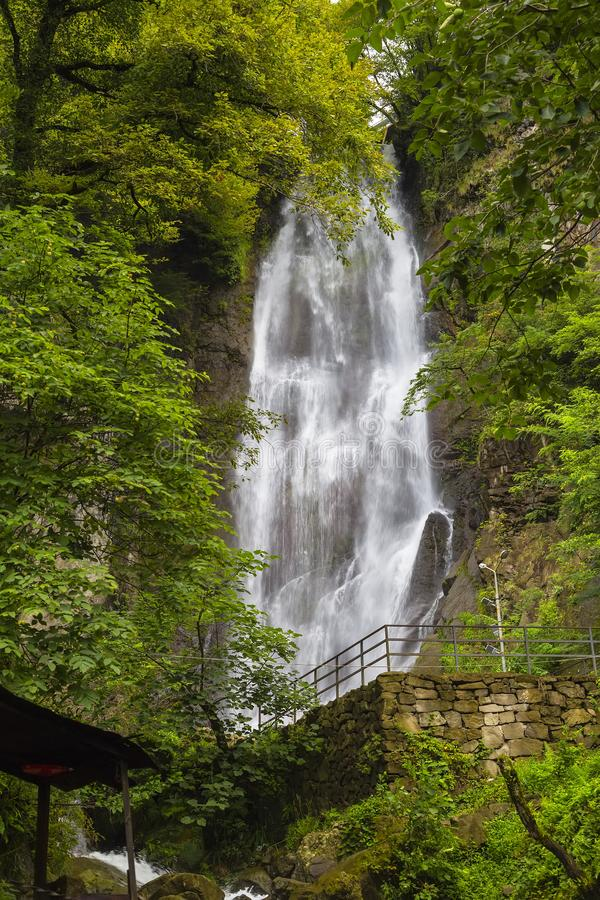 Mahunceti Falls in Adjara. Mahunceti Falls - located in the south-west of Georgia in the autonomous republic of Adjara stock images