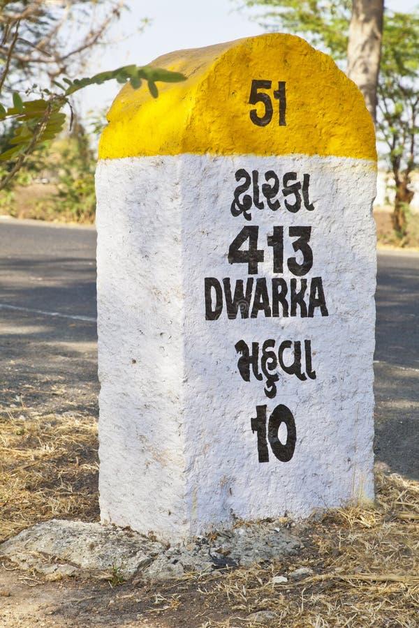 Mahuva 10 Dwarka 413 Kilometer lizenzfreie stockbilder