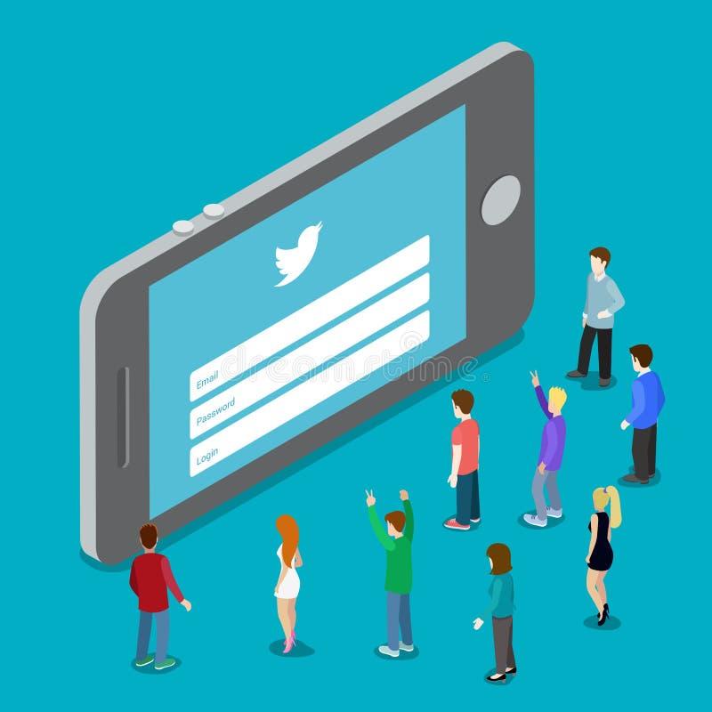 8 mai 1016 : Applicati social de mobile de media de Twitter illustration de vecteur