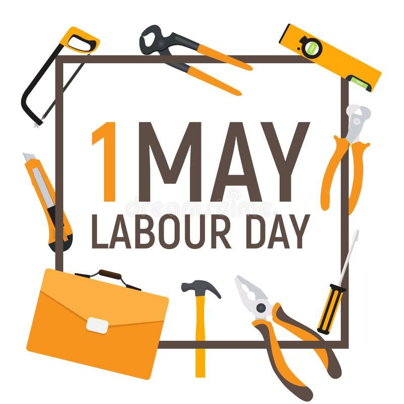 Download 1. Mai Arbeitstagesplakat Oder -fahne Auch Im Corel Abgehobenen Betrag Vektor Abbildung - Illustration von vorrichtung, arbeit: 90233191