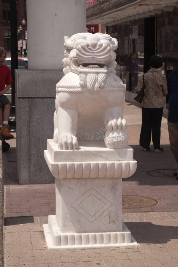 22 mai 2010 Boston mA - statue de dragon photos stock