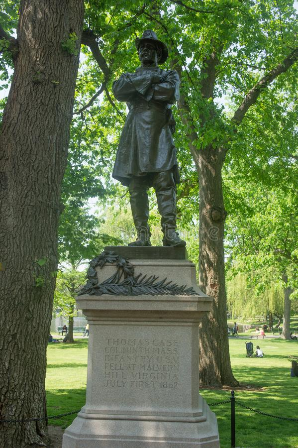 25 mai 2016 Boston mA : Statue de Thomas Cass image libre de droits