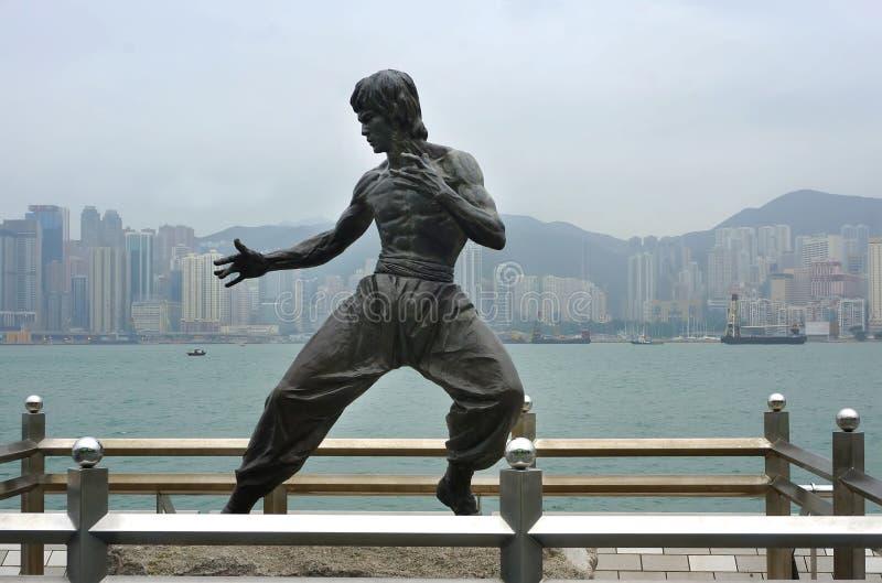 MAI: Bruce Lee-Statue auf der Allee von Sternen am 16 stockbilder