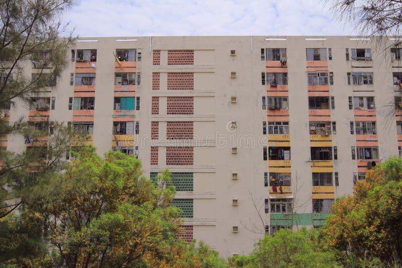 3 mai 2014, construction de logements publique de Pak Tin photo stock