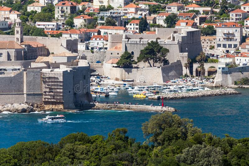 5. Mai 2019 Dubrovnik, Kroatien Alte Stadtarchitektur lizenzfreie stockbilder