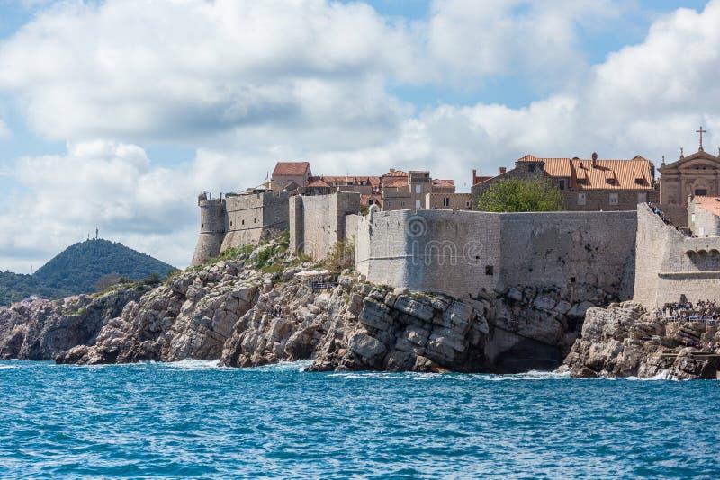 5. Mai 2019 Dubrovnik, Kroatien Alte Stadtarchitektur stockfoto