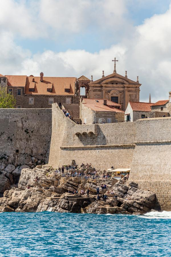 5. Mai 2019 Dubrovnik, Kroatien Alte Stadtarchitektur lizenzfreies stockbild