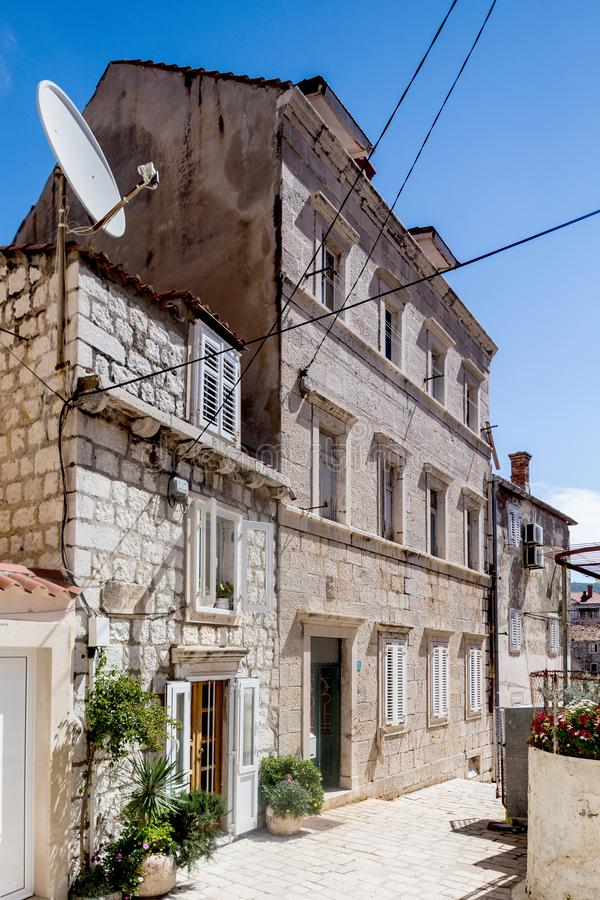 5. Mai 2019 Dubrovnik, Kroatien Alte Stadtarchitektur stockfotos