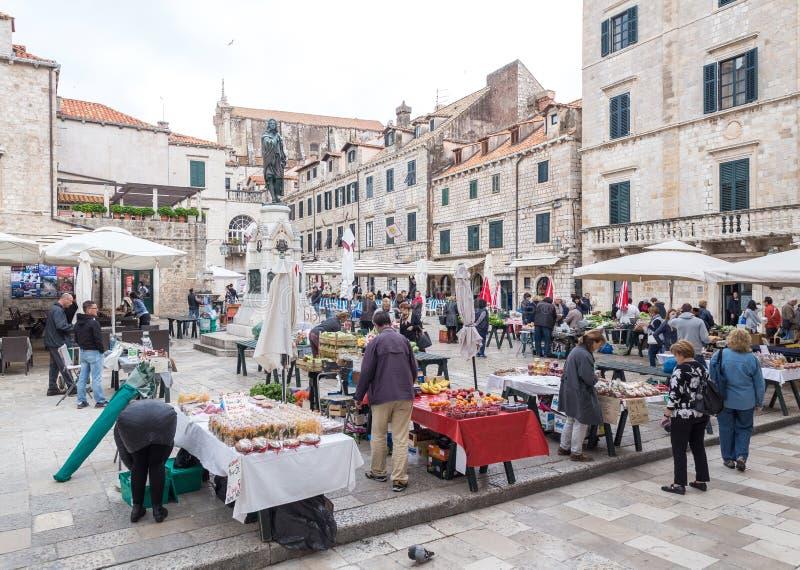 4. Mai 2019 Dubrovnik, Kroatien Alte Stadtarchitektur stockbilder