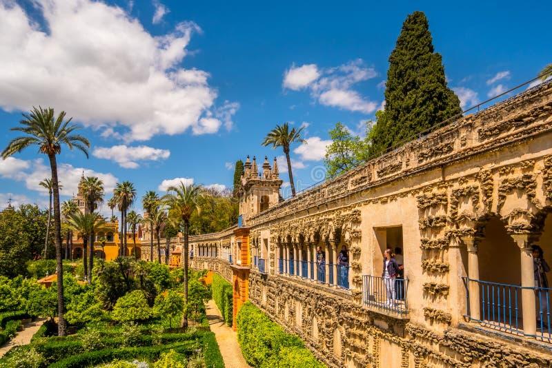 Mai 2019 Galeria de Grutesco de vrai Alcazar Royal Palace Sevilla Spain photos libres de droits