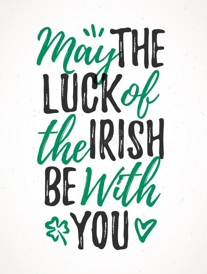 Mai la chance de l'irlandais soit avec vous illustration stock