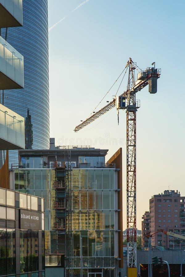Mai 2017 - Mailand im Bau - Bereich Porta Garibaldi stockfotos