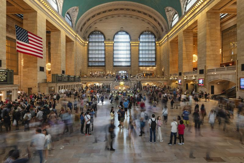 26. Mai 2018 - New York, Vereinigte Staaten: Innenraum des Grand Central Station, New York City, Vereinigte Staaten stockbild
