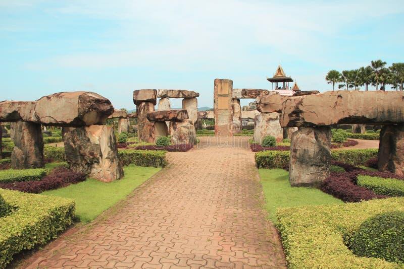 6 mai 2011 parc tropical Nong Nooch, sculpture assez extérieure colorée de la Thaïlande Pattaya en point de repère de belle de ja image stock