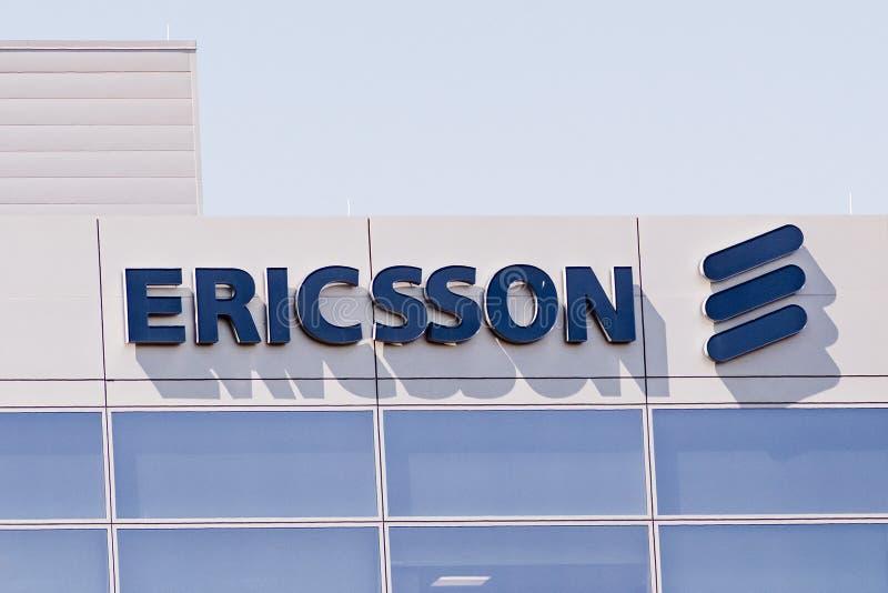 8 mai 2019 Santa Clara/CA/Etats-Unis - bâtiment d'Ericsson situé dans Silicon Valley, région de San Francisco Bay du sud photos stock